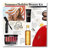 """""""Summer Holiday Beauty Kit"""" by beebeely-look ❤ liked on Polyvore featuring beauty, Forever New, Chanel, The Organic Pharmacy, Blugirl, Clarins, Bobbi Brown Cosmetics, Le Métier de Beauté, MANGO and Smashbox"""