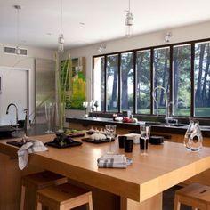 1re cuisine : ambiance bois vue panoramique
