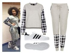 """Leigh-Anne Backstage at the Salute Tour"" by little-mix-fashionlover ❤ liked on Polyvore featuring Topshop and adidas"