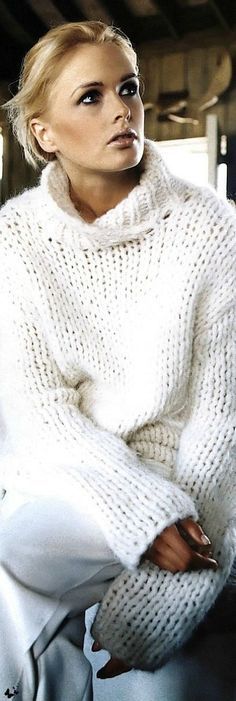 ♡̷̷̷̷ Winter White. Hand-knit in pristine Cotton