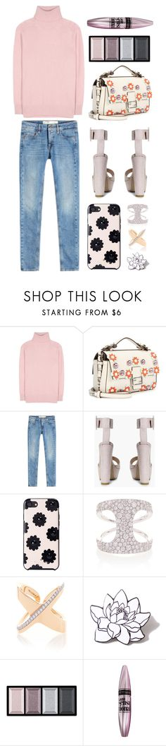 """Untitled #8293"" by cherieaustin on Polyvore featuring Tomas Maier, Fendi, Off-White, Boohoo, Kate Spade, ANTONINI, PINTRILL, Clé de Peau Beauté and Maybelline"