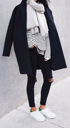 #fall #fashion / stripes + layers ~ Loved by Danyka Collection ~