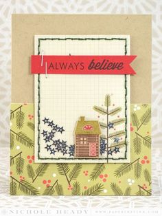 Always Believe Card by Nichole Heady for Papertrey Ink (December 2014)