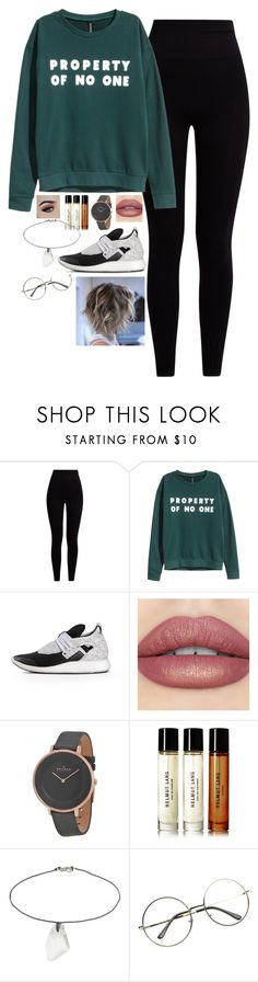 """Untitled #1451"" by malfoys-princess on Polyvore featuring Pepper & Mayne, H&M, Y-3, Skagen, Helmut Lang and Topshop"