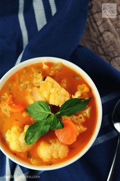 Warm and cozy, and perfect for fall, you're going to love this Red Curry Soup with Lentils by Vegan Richa!