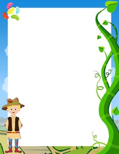Free jack and the beanstalk border templates including printable border paper and clip art versions. File formats include GIF, JPG, PDF, and PNG. Storybook Crafts, Fairy Tale Crafts, Fairy Tale Theme, Fairy Tales, Borders For Paper, Borders And Frames, Story Book Costumes, Page Boarders, Traditional Stories