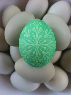 Pin drop egg made on St Patricks Day