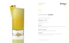 ELIXIR D'ANVERS COLADA Ingrediënten voor 1 cocktail: 4 cl Elixir d'Anvers 1 schijf, ca. 120 gr verse ananas crushed ice Bereiding: Doe 4cl Elixir d'Anvers, 1 schijf verse en versneden ananas en het crushed ice in een blender. Blend tot een mooi egale massa. Dresseer- en serveerwijze: Serveer in een longdrink en werk af met een schijfje ananas. Smaakprofiel: De tropische noot van de ananas combineert wonderwel met de Elixir d'Anvers. Een ijskoude en tropische cocktail, 'frappé-style'.