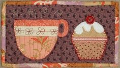 Tea and Cake Mug Rug pattern on Craftsy at http://www.craftsy.com/pattern/quilting/home-decor/tea-and-cake-mug-rug/26550
