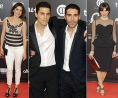 Adriana Ugarte, Alex González, Miguel Ángel Silvestre y Blanca Suárez en el estreno de 'Alacrán enamorado' en Madrid
