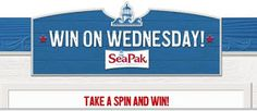 Babybear's Freebies, Sweeps and more!: SeaPak Win On Wednesdays Instant Win Game!