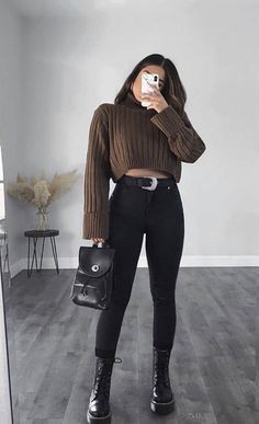 Trendy Fall Outfits, Casual Winter Outfits, Winter Fashion Outfits, Retro Outfits, Simple Outfits, Look Fashion, Stylish Outfits, Fashion Clothes, Cool Outfits