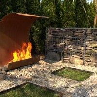 outdoor fire....This company has all kinds of cool outdoor fire ideas. Check it out!