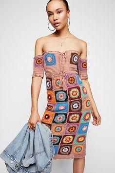 Slide View 1: Racing Hearts Crochet Midi Dress