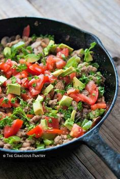 Clean Eating Recipes | Turkey Vegetable Skillet Recipe | One Pot Meals | Skillet Meals | Healthy Dinners ~ https://www.thegraciouspantry.com