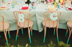 Love these ideas for table decor for this Dr. Seuss inspired wedding! Photo by @matthewmorgan
