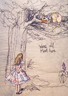 Alice and the Cheshire Cat 34 #Embroidery Patterns You Are Going to Love ...