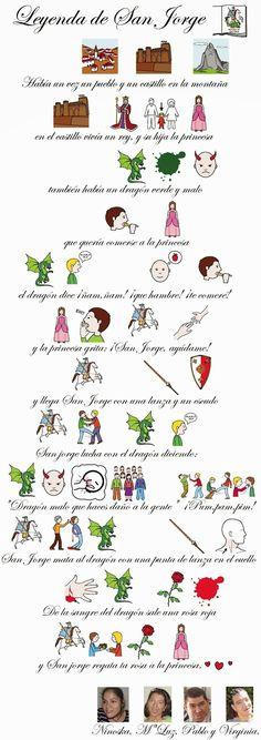 Escuela infantil castillo de Blanca: LEYENDA DE SAN JORGE Letra Script, Kids English, Spanish Lessons, Conte, Medieval, Gaudi, Ideas, Saints, Spanish