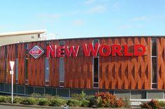 Sistemas de Fachadas   New World, centro comercial con fachada Fundermax estampado madera   http://sistemasdefachadas.com