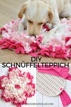 DIY - Wie du für deinen Hund einen Schnüffelteppich selber machen kannst zeigen wie dir auf Craftyneighboursclub.com#schnüffelteppich #dogs #DIY
