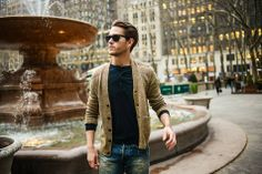 Adam Gallagher rocks this downtown look by adding edge in Denim & Supply