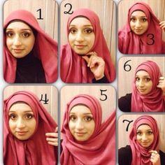 4 Amazing Hijab Tutorials  012221fe2466a12a639024babb41ecae