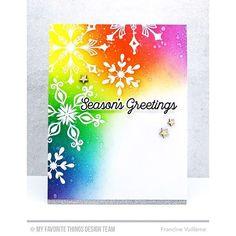 snowflakes, rainbow