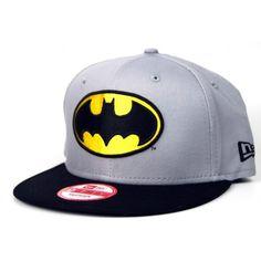 New Era Team Hero Snapback Batman Cap Grey Black ❤ liked on Polyvore