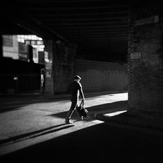 Photography, Medium format in People, Everyday, City life, Holga + Ilford HP5plus, Poolbeg Street, Dublin. Photograph made the same day I was testing Polaroid SX-70 camera in this area of town.  (polaroid versio… - Image #609640, Ireland