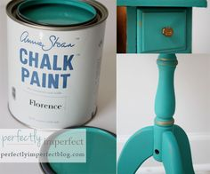 Anne Sloan Chalk Paint -- color: Florence and an old telephone table.  What a transformation.    http://store.benjaminmoore.com/storefront/shop-by-color/designer-favorites/young-house-love-colors/cndShopByColor-cCandice_Olson-cYHL_Colors-p1.html?utm_source=YHL_medium=social_campaign=YHL_to_estore_03_23_12