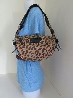 Kate Spade Animal Print Nylon Leather Ergo Shoulder Bag