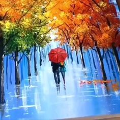 "Love Canvas Painting Ideas - Comment ""LOVE"" in your language ❤️ Comment your thoughts below👇❤️ – Artist Credit: - Love Canvas Painting, Canvas Painting Tutorials, Art Painting Gallery, Painting Art, Acrylic Painting For Beginners, Simple Acrylic Paintings, Acrylic Painting Techniques, Autumn Painting, Painted Canvas"