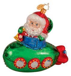 RADKO 1014195  HOLIDAY SUB - SANTA - SUBMARINE - RETIRED ORNAMENT  #Ornament