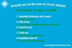 Strength and Cardio Interval Circuit Workout