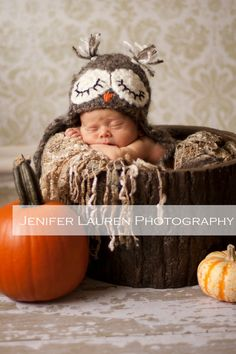 sleepy owl baby hat crochet baby hat by SimplyCuteCrochet on Etsy, $23.00  but also tooooo cute!!