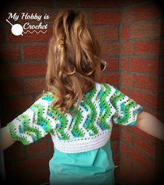 Tropical Waves Bolero | Free Crochet Pattern with Tutorial | My Hobby is Crochet