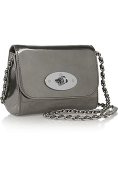 Mulberry | Lily mini metallic leather shoulder bag | NET-A-PORTER.COM