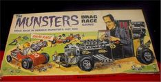 RARE MUNSTERS DRAG RACE GAME 1965 Herman Munster, Vintage Board Games, Hot Rods, Monster Trucks, Racing, Ebay, Running, Auto Racing, Street Rods