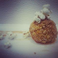 Fried Popcorn Gelato. Corn and Butter Gelato crusted with sweetened ...