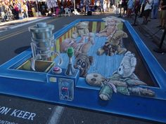 You Gotta See This! MIND BLOWING 3D Street Art By Leon Keer #streetart #wow #amazingart