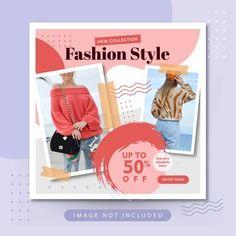 YusufSangdes | Freepik Social Media Banner, Social Media Template, Promotional Banners, Badge Template, Styling Brush, Instagram Feed, Instagram Posts, Instagram Post Template, Sale Banner