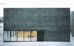 Degelo Architekten Kunstmuseum Liechtenstein