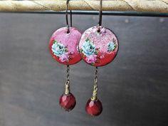 A personal favorite from my Etsy shop https://www.etsy.com/listing/497296120/red-enamel-earrings-handmade-artisan