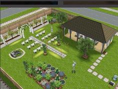 Wedding venue. Sims Freeplay house design