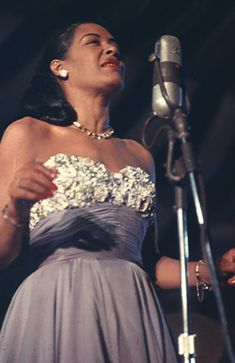 """Billie """"Lady Day"""" Holiday, a great singer of Jazz and Blues music. (All About Jazz Gallery. Billie Holiday, Jazz Blues, Blues Music, Music Tones, Soul Music, Music Icon, Jazz Music, Reggae Music, Music Music"""