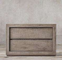 Reclaimed Russian Oak Closed Nightstand W Oak Nightstand, Nightstands, Bedside Tables, Dresser, Restoration Hardware Bedroom, Alaska House, Master Bedroom Redo, Platform Bedroom, Ideias Diy