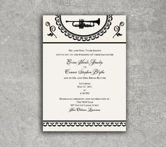 New Orleans Wedding Invitation or Save the Date by PowerhousePaper, $3.75