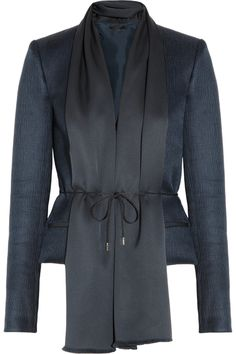 The Row|Fordorf silk satin-collared textured-wool and silk-blend jacket|NET-A-PORTER.COM