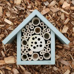 USA Mason Bee House and Insect Home, One Tier, in Mulberry. $30.00, via Etsy.