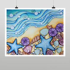 Holly Kitaura Art.  Hawaiian shells.  Hawaii art, Hawaiian art, Hawaii artist, Hawaiian artist,